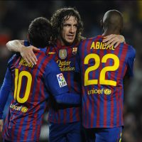 touching moments of respect in football history puyol hugging abidal messi