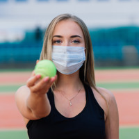 Tennis and Mask