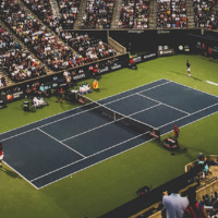 Tennis Court Stadium Filled With People